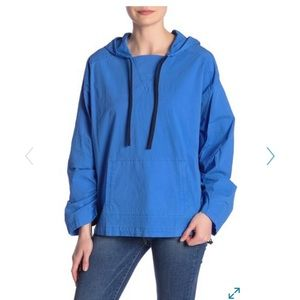 FRAME DENIM CINCHED HOODED WINDBREAKER SIZE SMALL